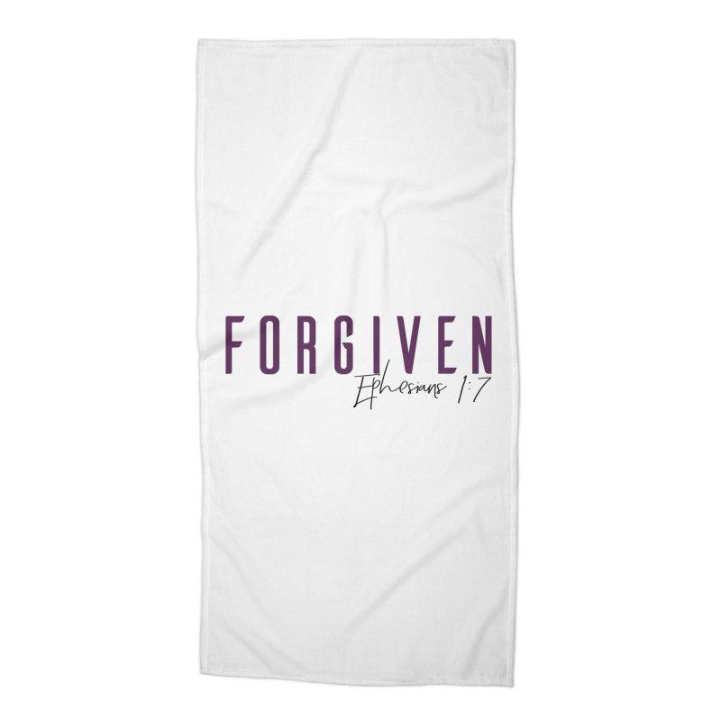 Forgiven Accessories Beach Towel by XXXIII Apparel