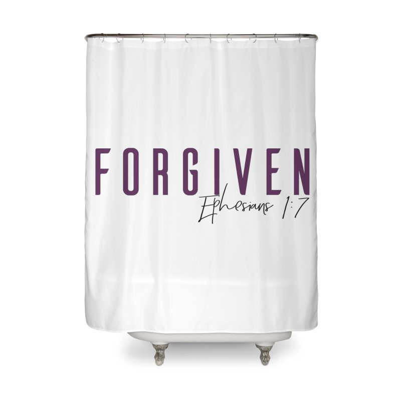 Forgiven Home Shower Curtain by XXXIII Apparel