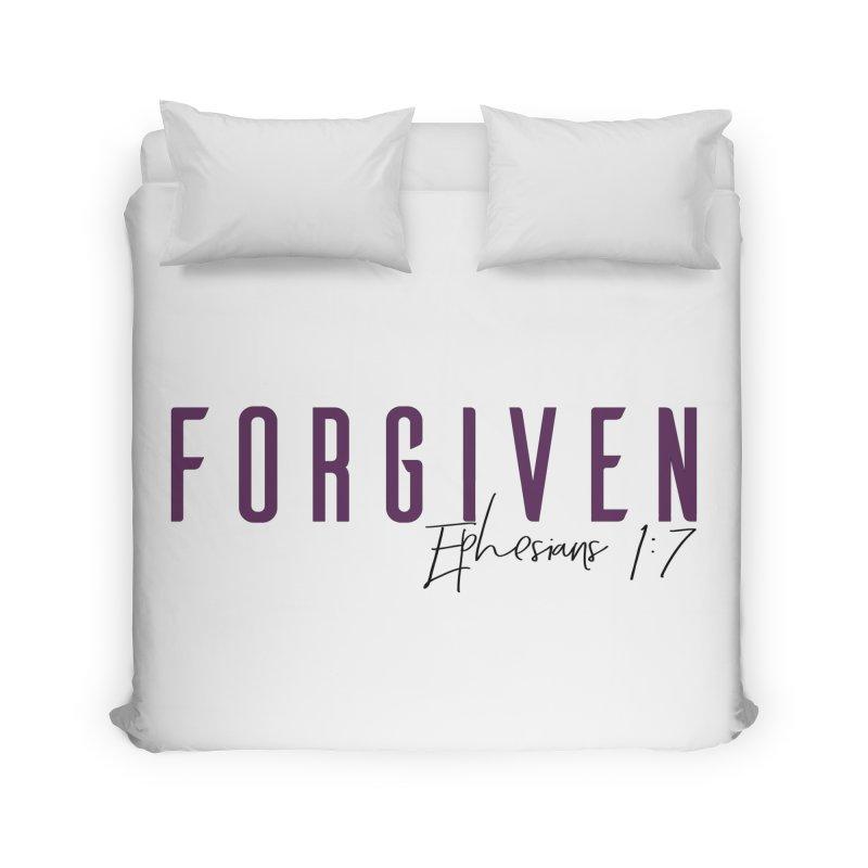 Forgiven Home Duvet by XXXIII Apparel