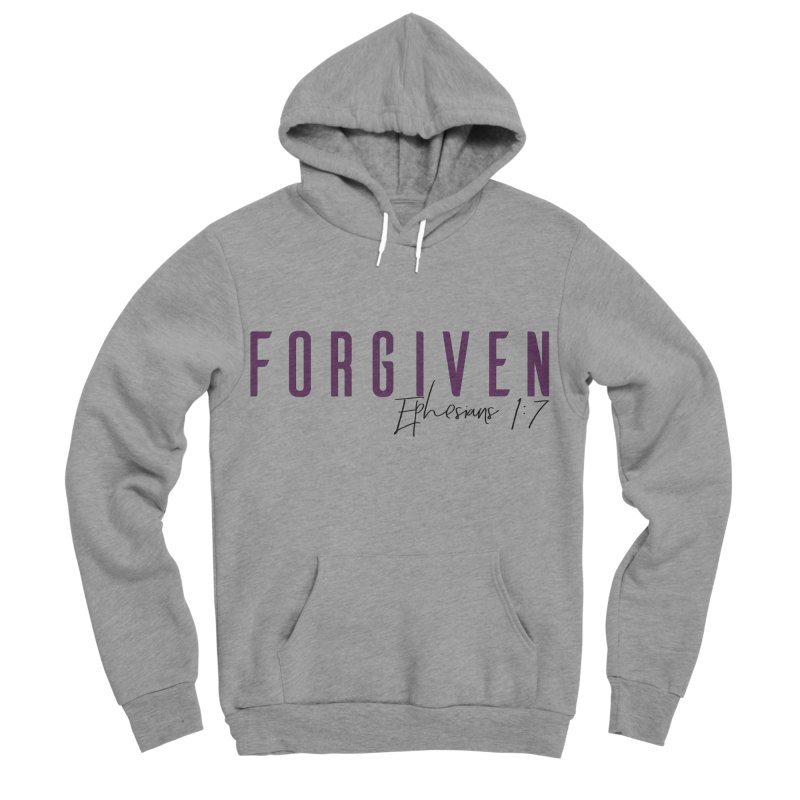 Forgiven in Women's Sponge Fleece Pullover Hoody Heather Graphite by XXXIII Apparel