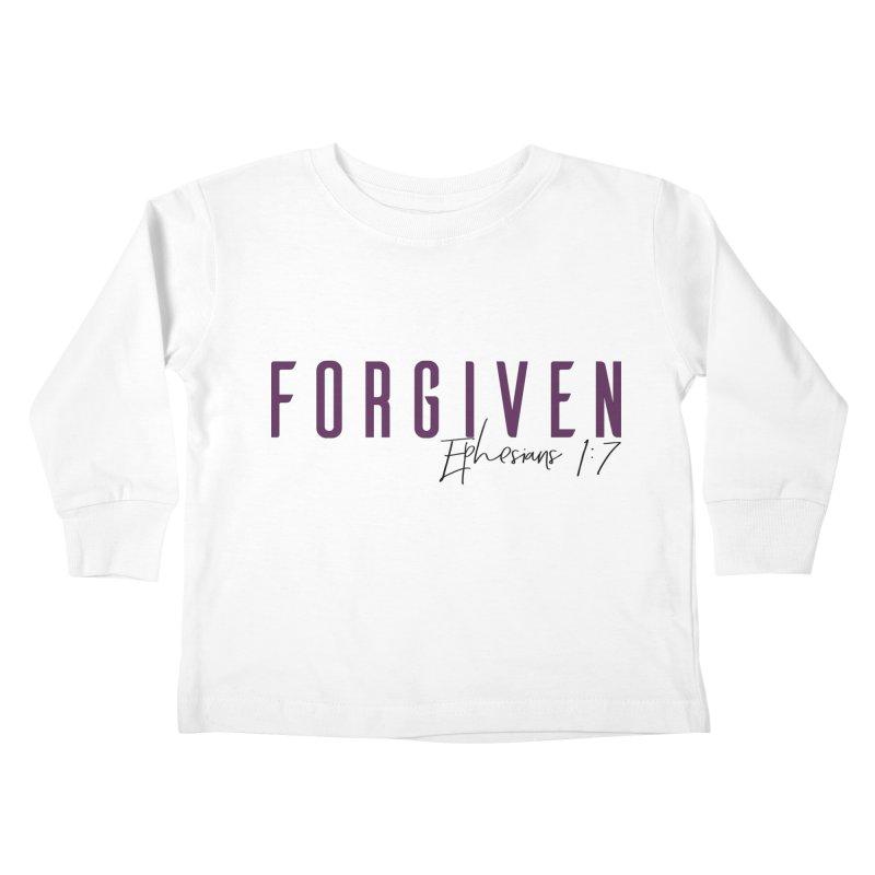 Forgiven Kids Toddler Longsleeve T-Shirt by XXXIII Apparel