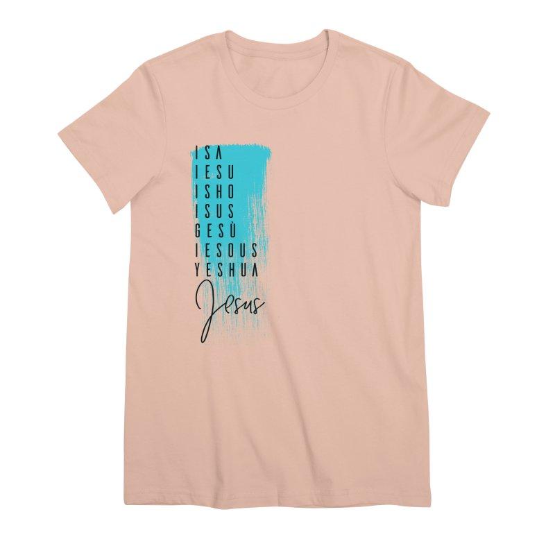 Jesus Women's Premium T-Shirt by XXXIII Apparel