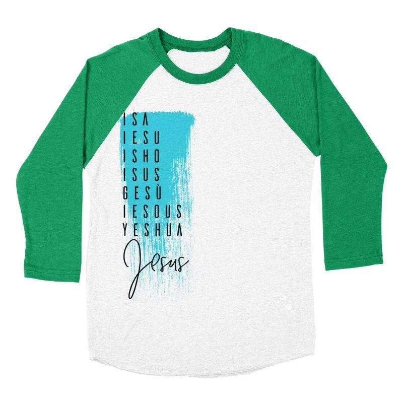 Jesus Women's Baseball Triblend Longsleeve T-Shirt by XXXIII Apparel