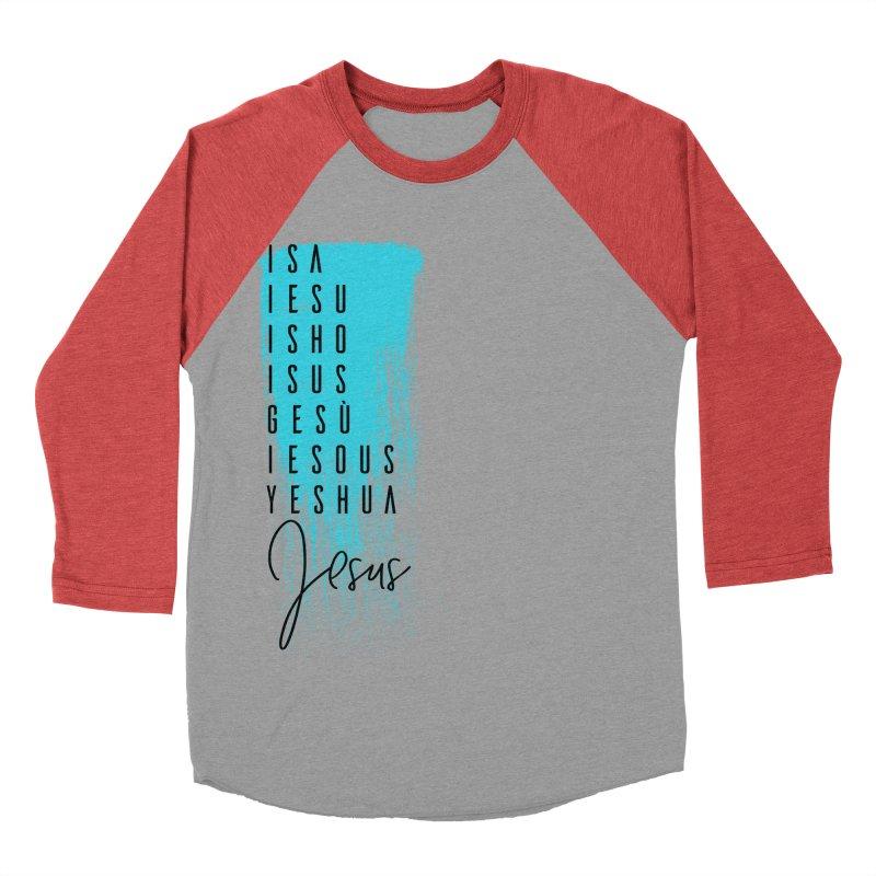 Jesus Men's Baseball Triblend Longsleeve T-Shirt by XXXIII Apparel