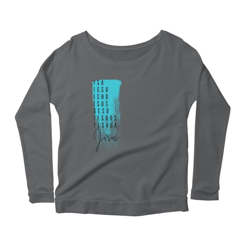 Jesus Women's Scoop Neck Longsleeve T-Shirt by XXXIII Apparel