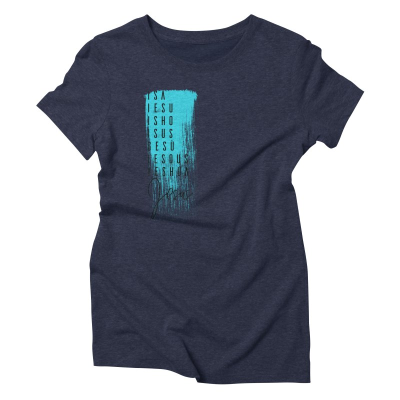 Jesus Women's Triblend T-Shirt by XXXIII Apparel