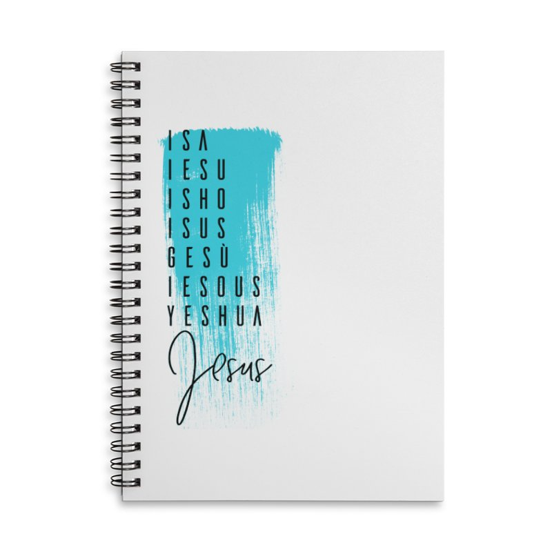 Jesus Accessories Lined Spiral Notebook by XXXIII Apparel