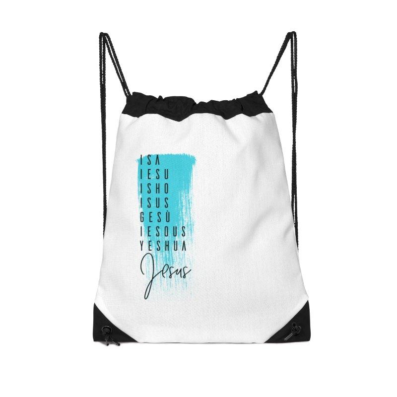 Jesus Accessories Drawstring Bag Bag by XXXIII Apparel
