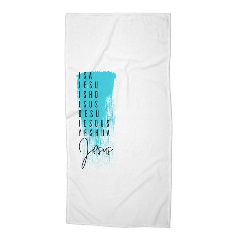 Jesus Accessories Beach Towel by XXXIII Apparel