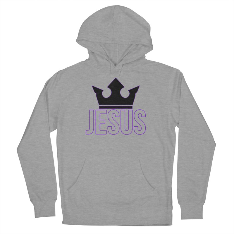King Jesus in Men's French Terry Pullover Hoody Heather Graphite by XXXIII Apparel