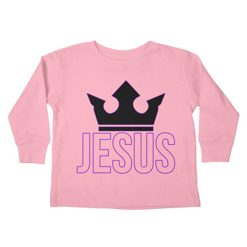 King Jesus Kids Toddler Longsleeve T-Shirt by XXXIII Apparel