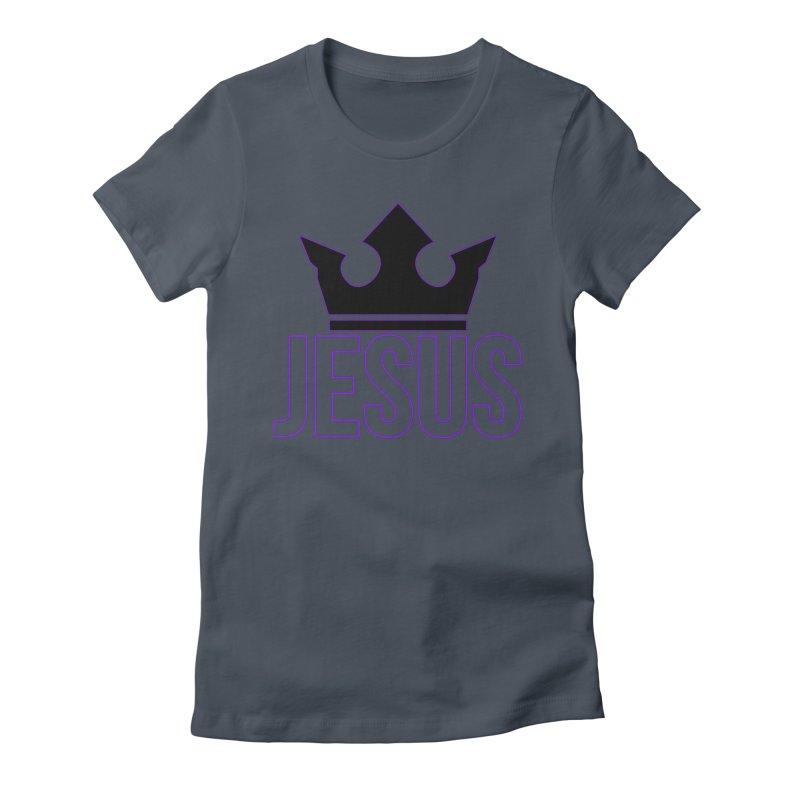 King Jesus Women's Fitted T-Shirt by XXXIII Apparel