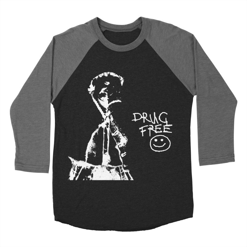 DRUG Free Men's Baseball Triblend Longsleeve T-Shirt by xydxydxydxydxydxyd