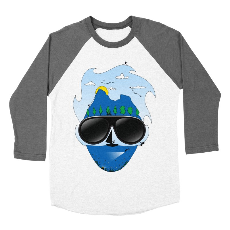 Mr. Adventure Men's Baseball Triblend T-Shirt by xylentphree's Artist Shop