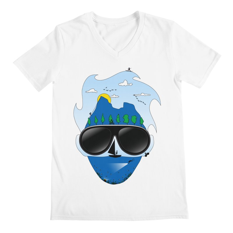 Mr. Adventure Men's V-Neck by xylentphree's Artist Shop