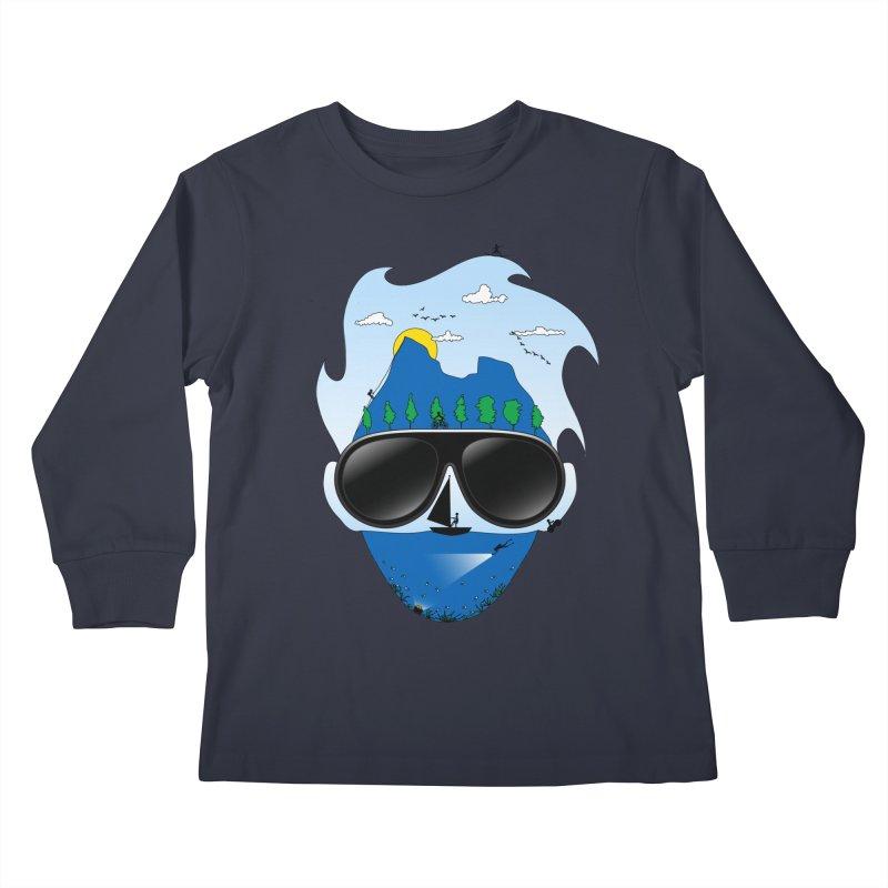 Mr. Adventure Kids Longsleeve T-Shirt by xylentphree's Artist Shop