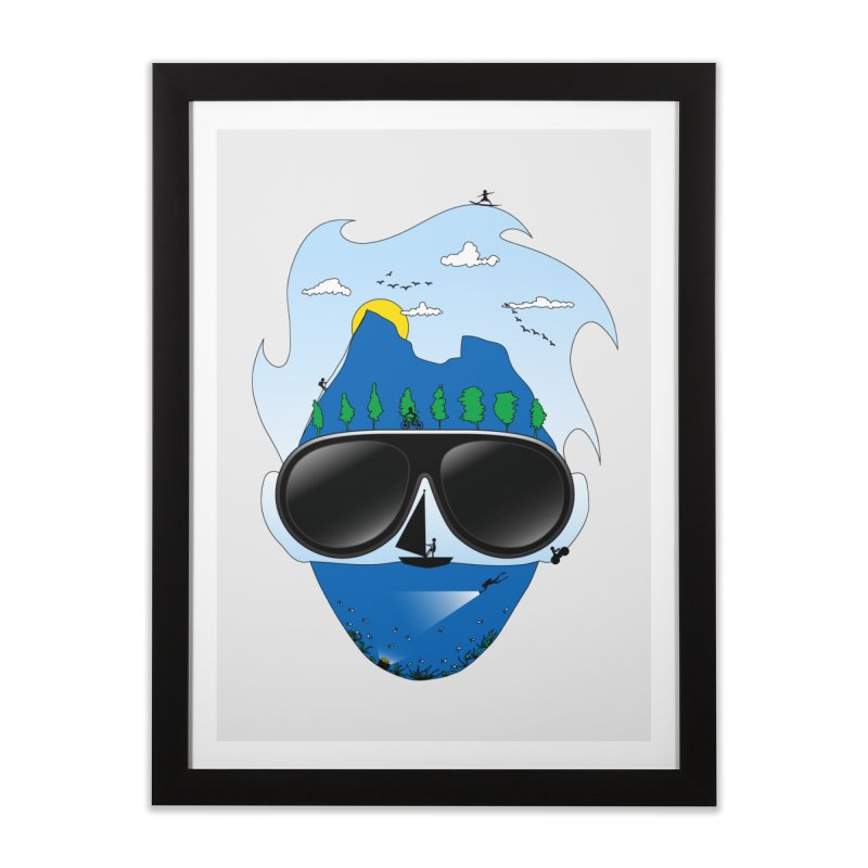 Mr. Adventure Home Framed Fine Art Print by xylentphree's Artist Shop