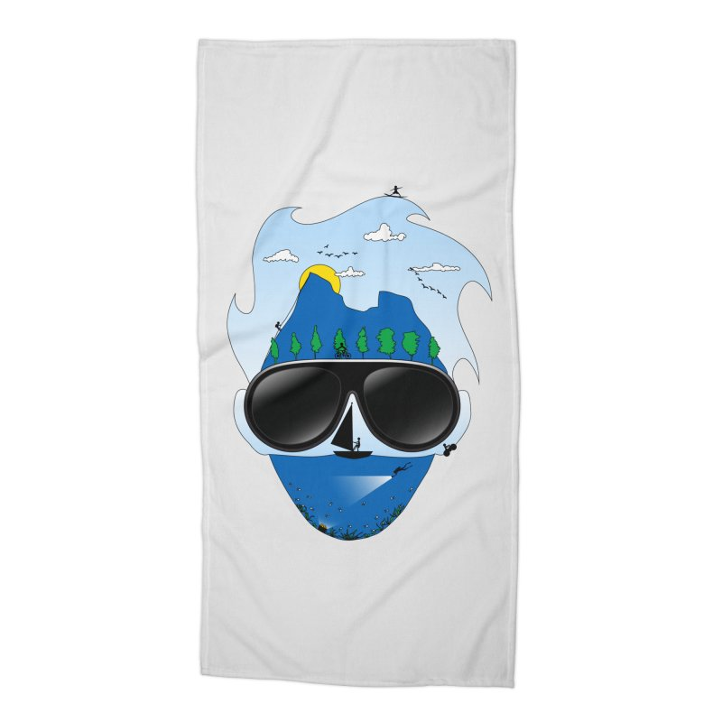 Mr. Adventure Accessories Beach Towel by xylentphree's Artist Shop