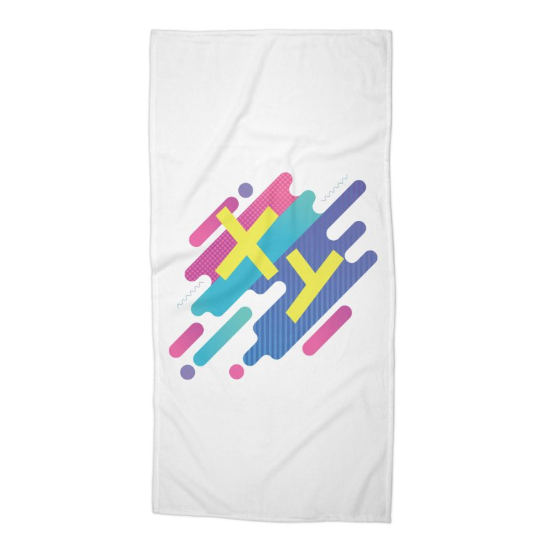 XY Circuit Accessories Beach Towel by XY The Brand