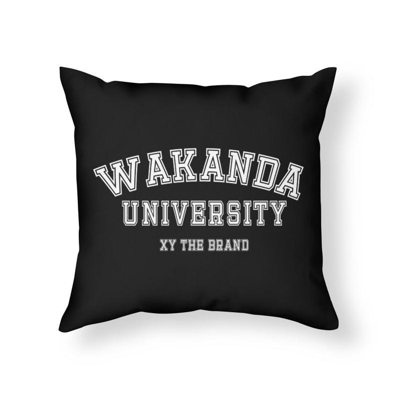 Wakanda University Home Throw Pillow by XY The Brand