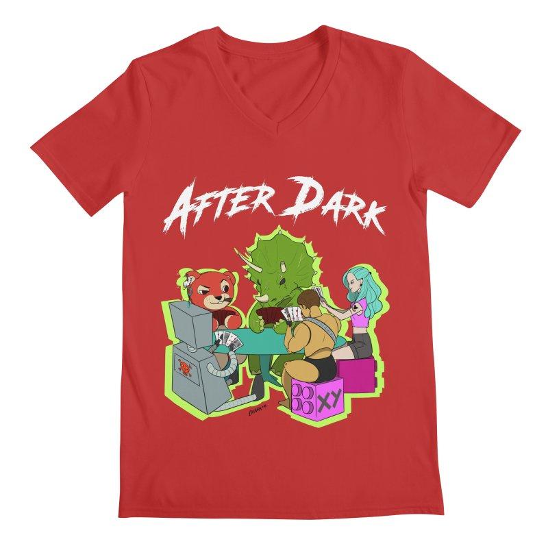 After Dark Men's Regular V-Neck by XY The Brand