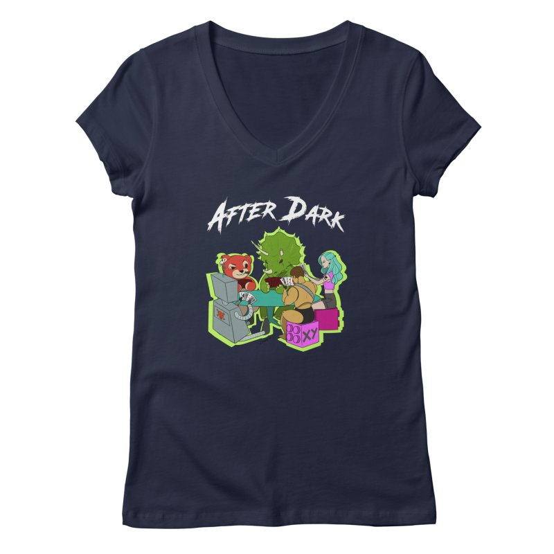 After Dark Women's Regular V-Neck by XY The Brand
