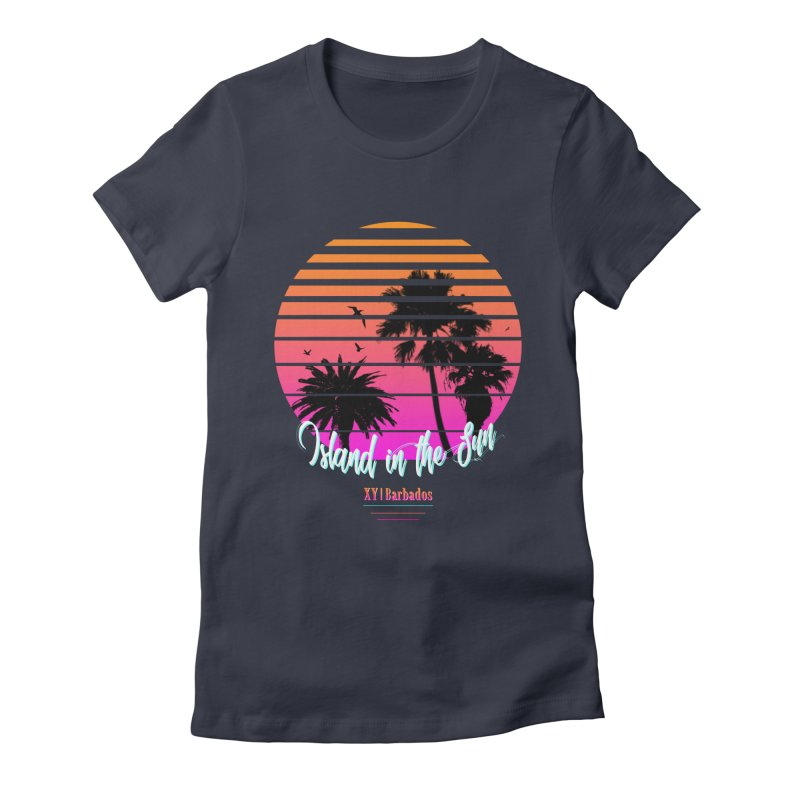 Tropics Women's Fitted T-Shirt by XY The Brand