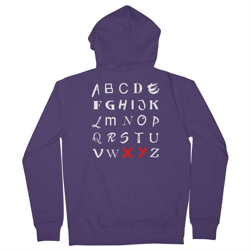 Alphabet Women's French Terry Zip-Up Hoody by XY The Brand
