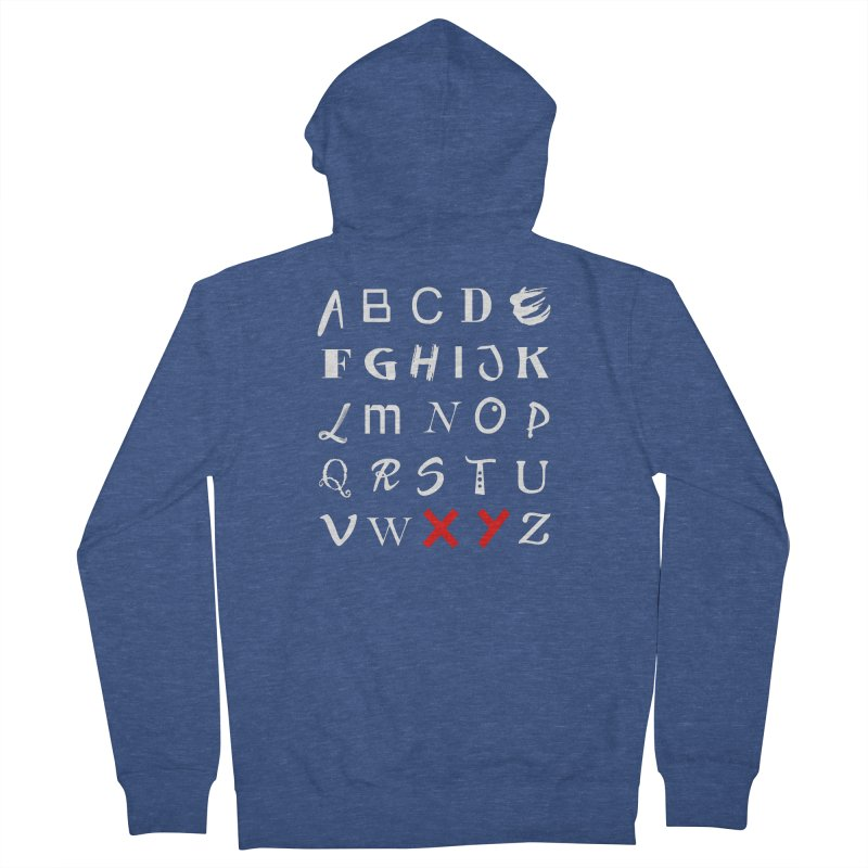 Alphabet Men's French Terry Zip-Up Hoody by XY The Brand