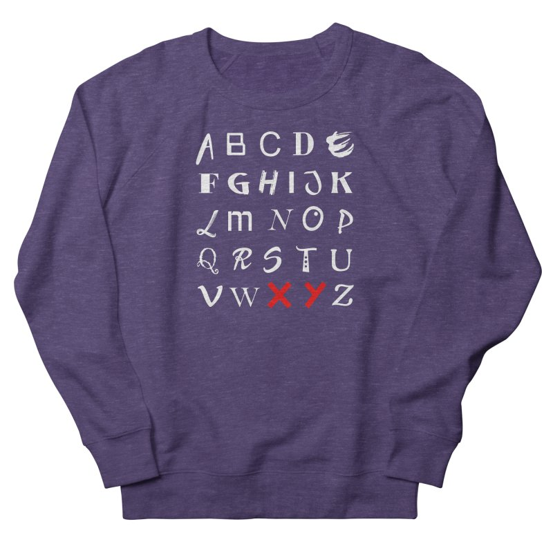 Alphabet Men's French Terry Sweatshirt by XY The Brand
