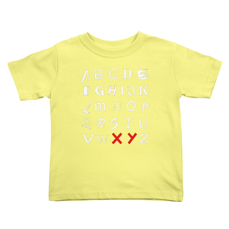 Alphabet Kids Toddler T-Shirt by XY The Brand