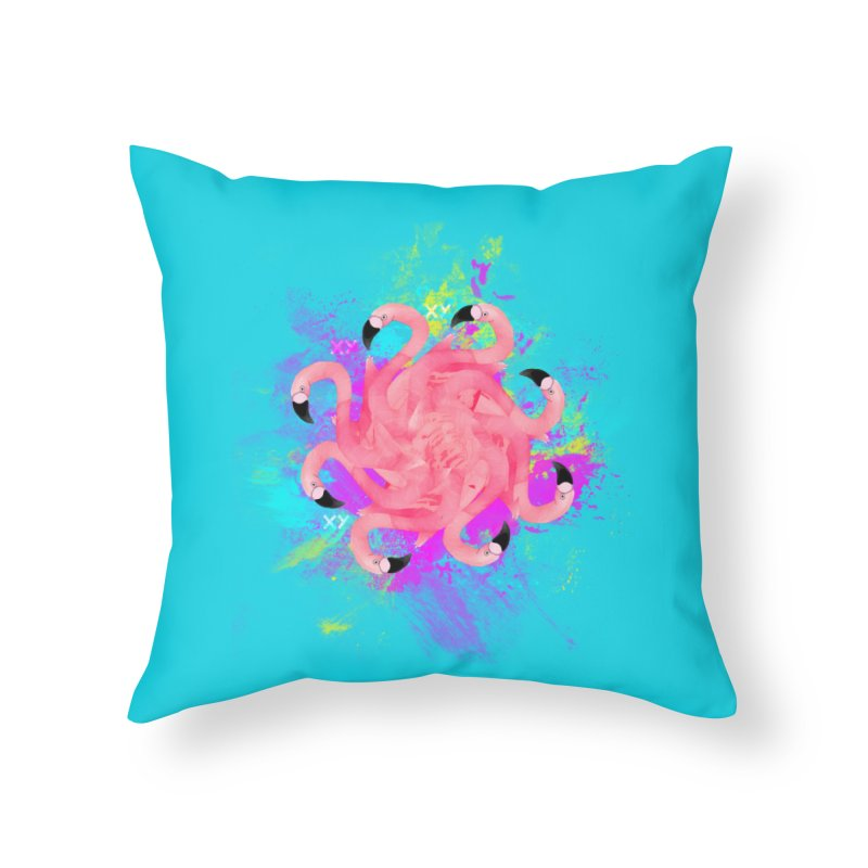 Flamingoscope Home Throw Pillow by XY The Brand