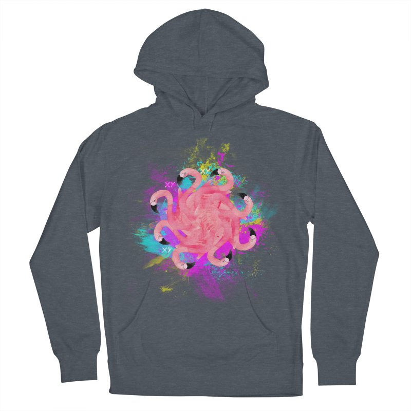Flamingoscope Women's French Terry Pullover Hoody by XY The Brand