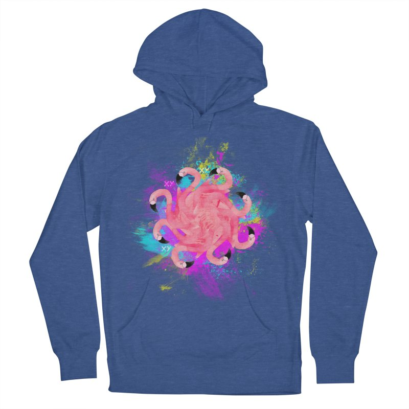 Flamingoscope Men's French Terry Pullover Hoody by XY The Brand