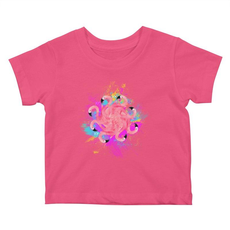 Flamingoscope Kids Baby T-Shirt by XY The Brand