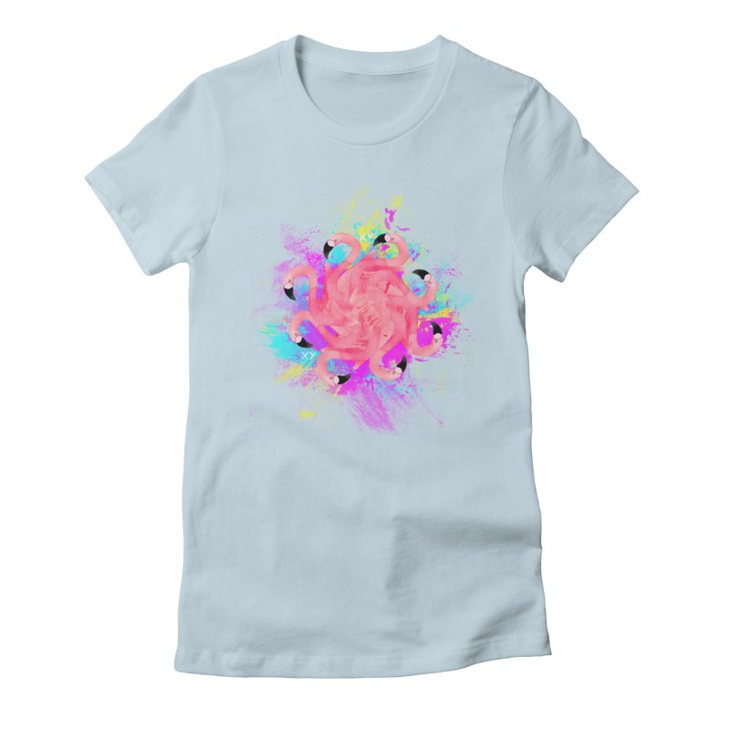 Flamingoscope Women's Fitted T-Shirt by XY The Brand