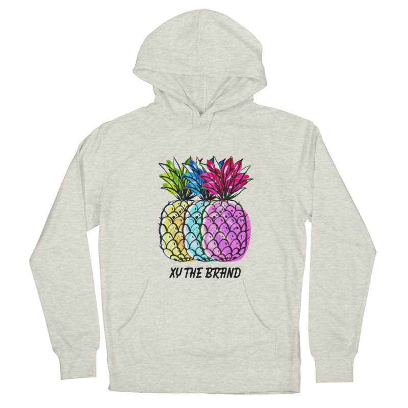 Pineapples Women's French Terry Pullover Hoody by XY The Brand