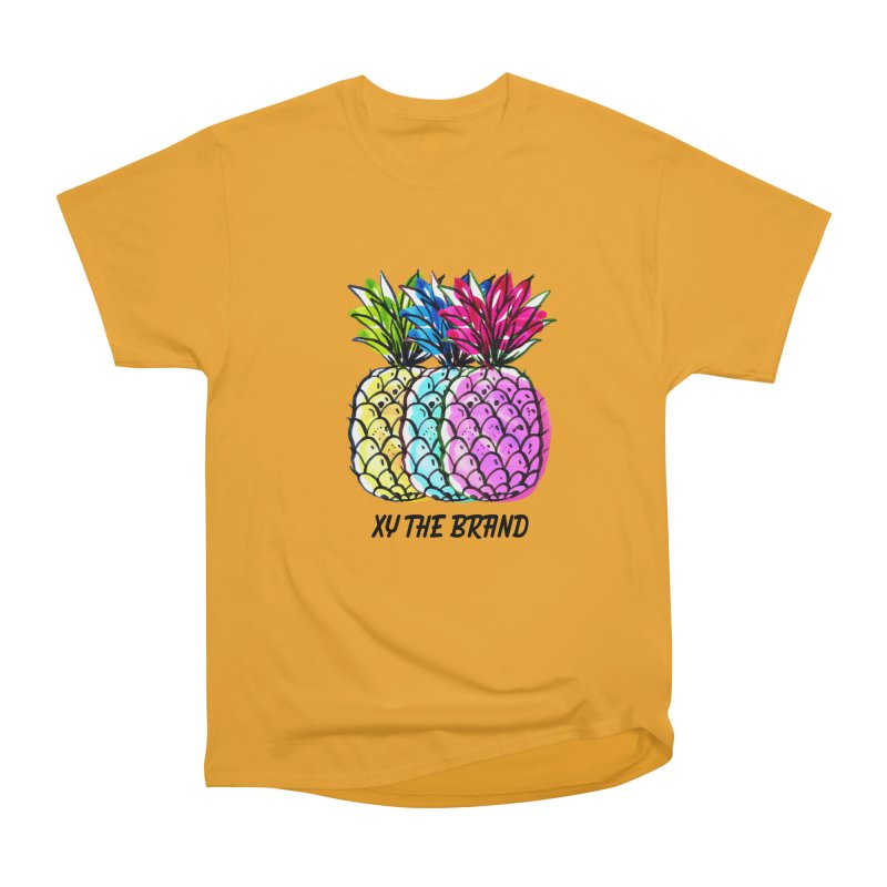 Pineapples Women's Heavyweight Unisex T-Shirt by XY The Brand