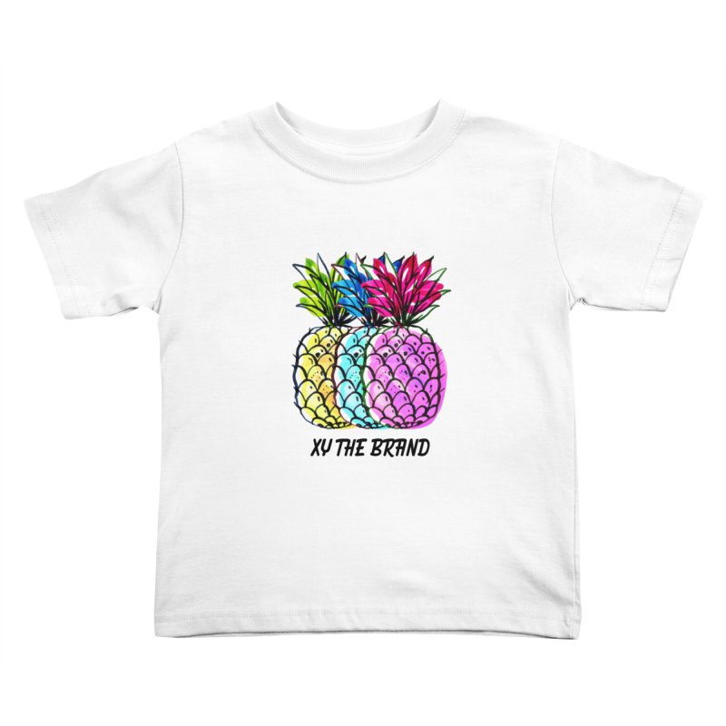 Pineapples Kids Toddler T-Shirt by XY The Brand