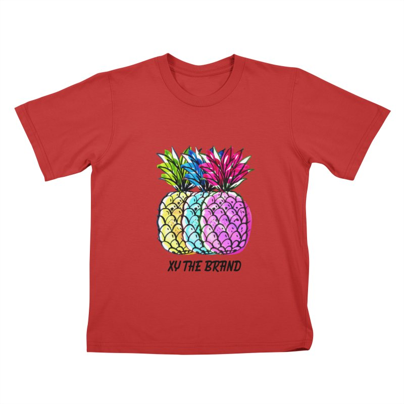 Pineapples Kids T-Shirt by XY The Brand
