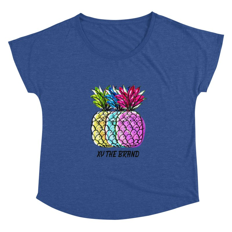 Pineapples Women's Dolman Scoop Neck by XY The Brand