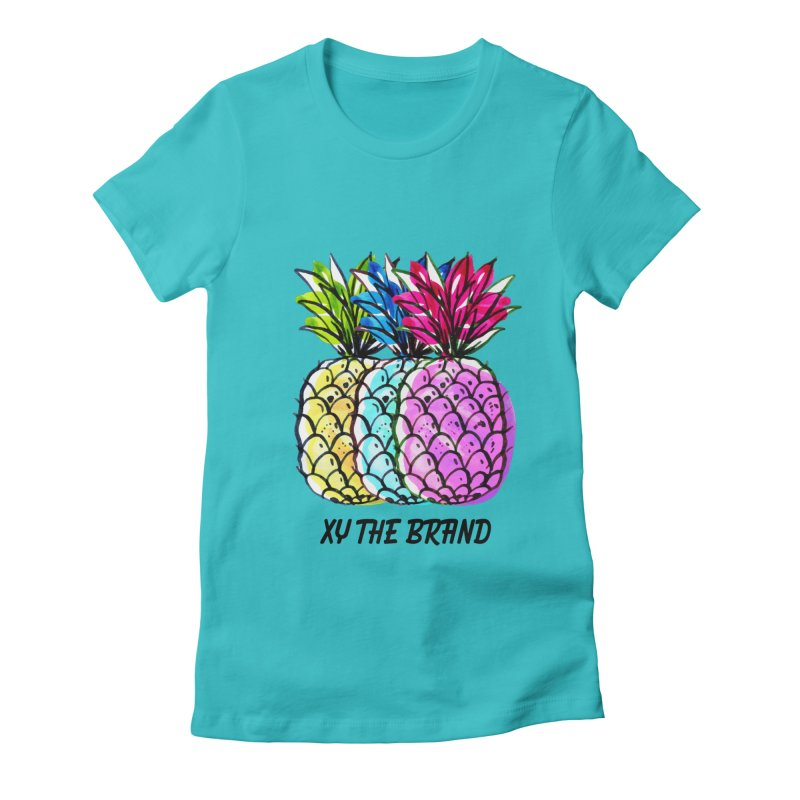 Pineapples Women's Fitted T-Shirt by XY The Brand