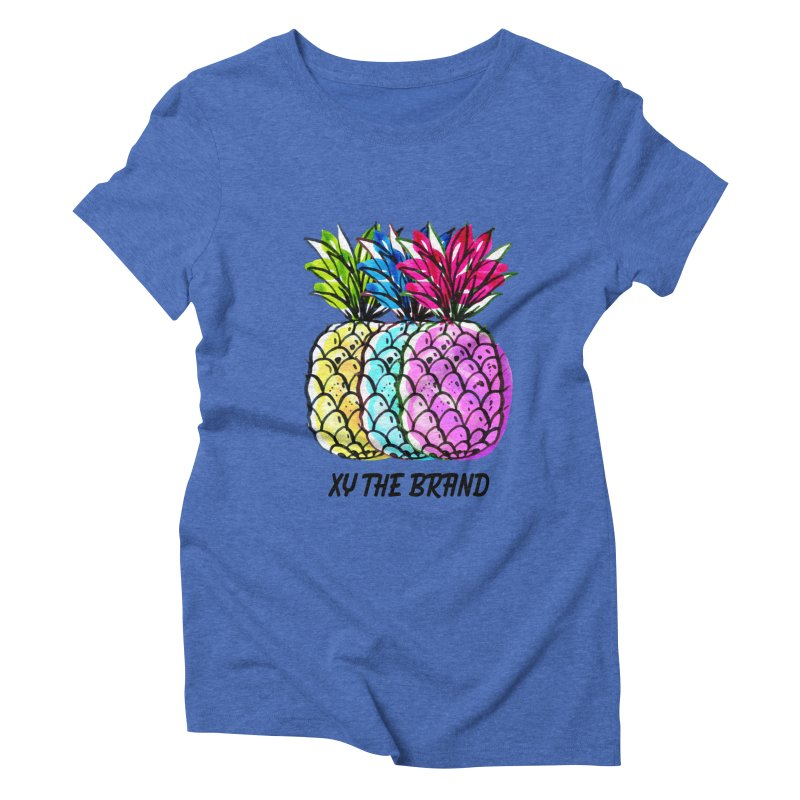 Pineapples Women's Triblend T-Shirt by XY The Brand