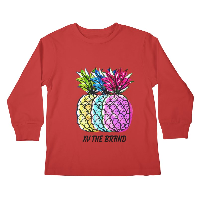 Pineapples Kids Longsleeve T-Shirt by XY The Brand