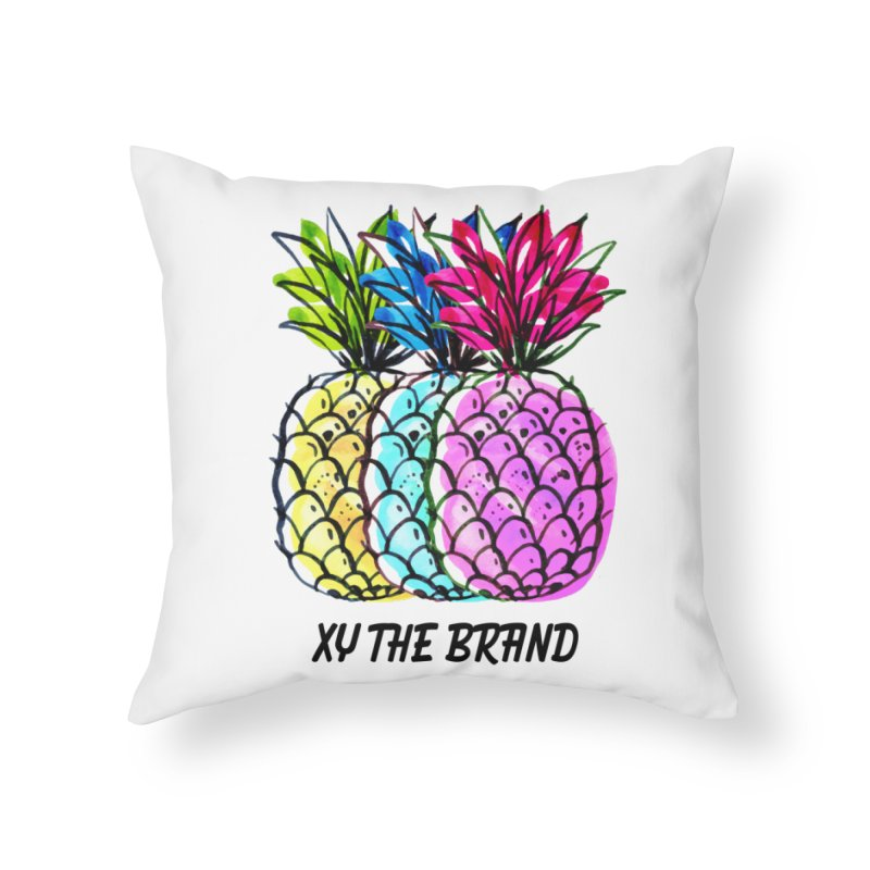 Pineapples Home Throw Pillow by XY The Brand