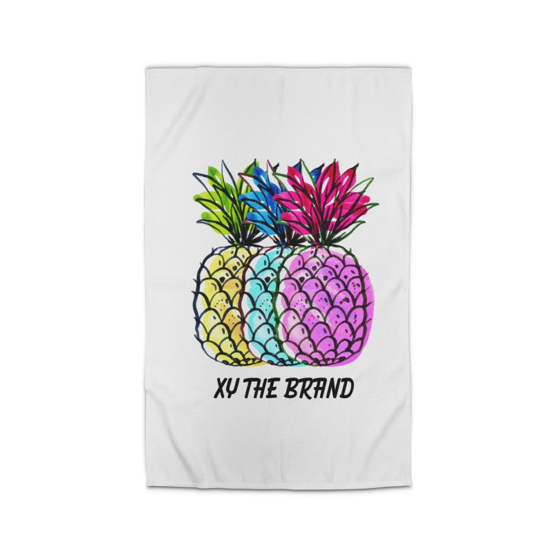 Pineapples Home Rug by XY The Brand