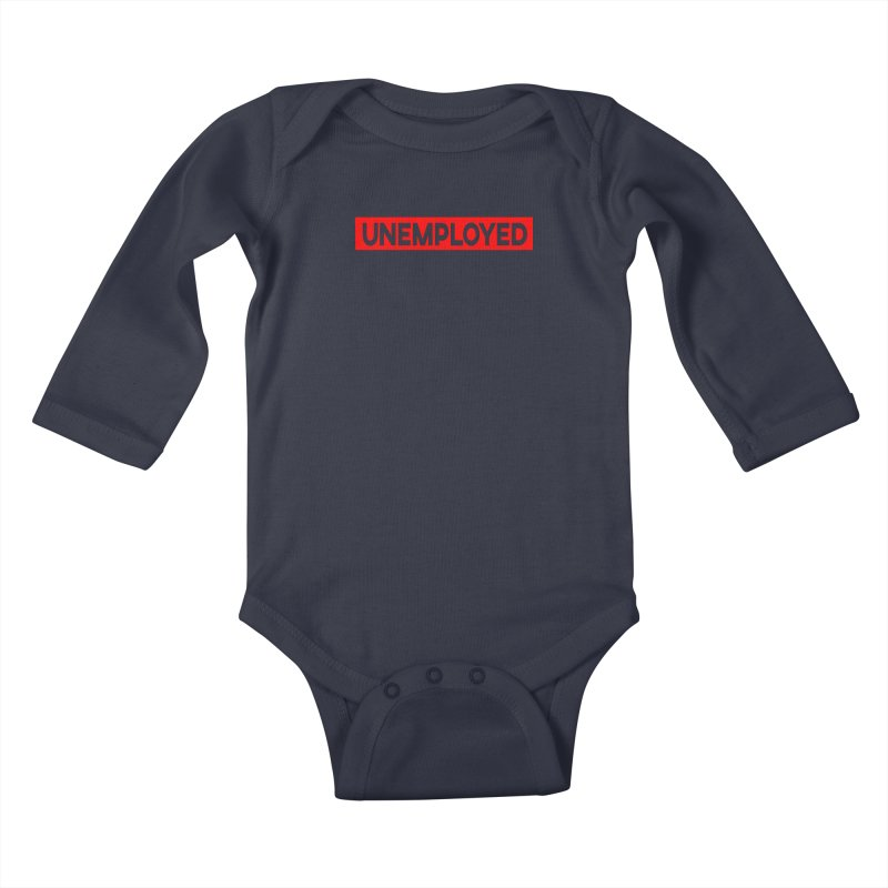 Unemployed Kids Baby Longsleeve Bodysuit by XY The Brand