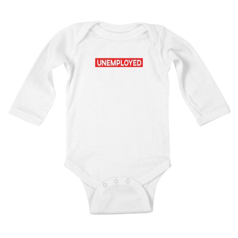 Unemployed Kids Baby Longsleeve Bodysuit by XY The Brand