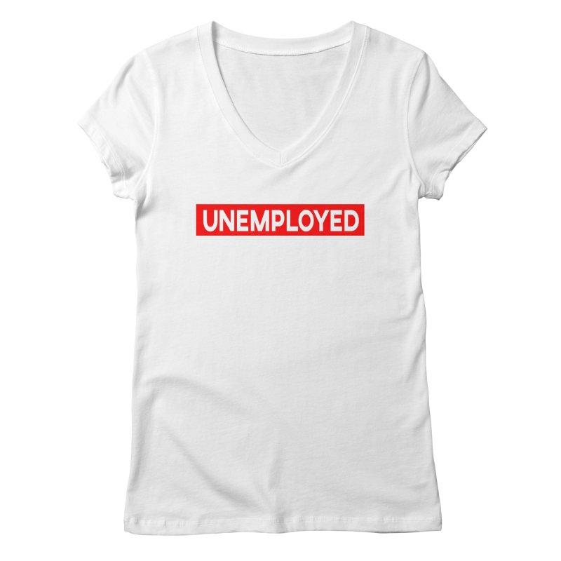 Unemployed Women's Regular V-Neck by XY The Brand