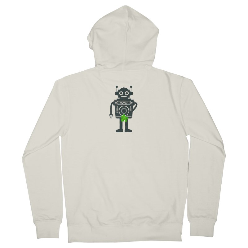 WEARING GREEN Men's French Terry Zip-Up Hoody by YaaH